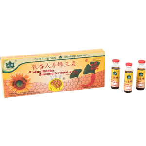 Ginkgo Biloba+Ginseng+Royal Jelly 10Fl10Ml Yong Kang