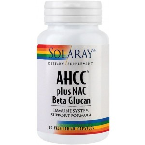 AHCC Plus NAC Beta Glucan 30Cps Solaray Secom