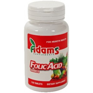 Acid Folic 400µg 120cpr Adams Vision