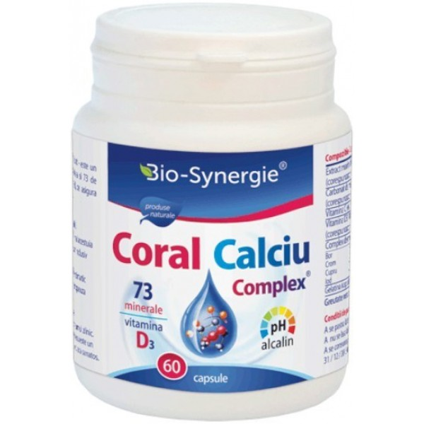 Calciu Coral Complex 60cps Bio Synergie