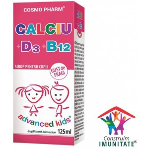 Calciu D3 + B12 Sirop 125 ml