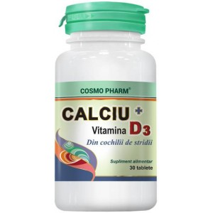 Calciu + Vitamina D3 30CPS