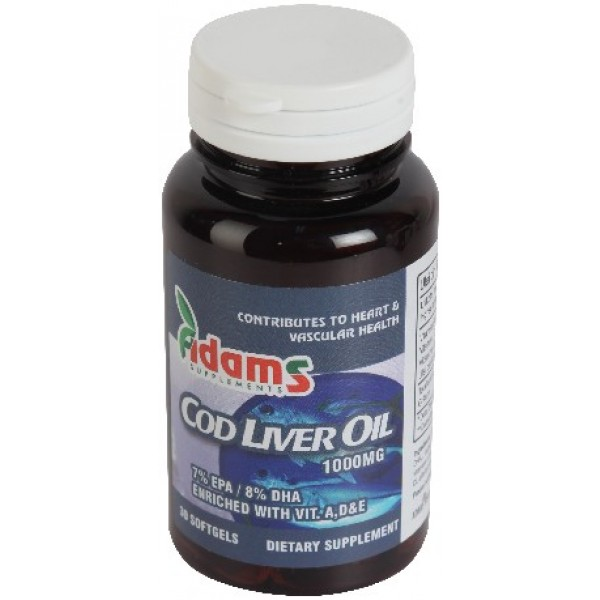 Cod Liver Oil 1000mg 30cps Adams Vision