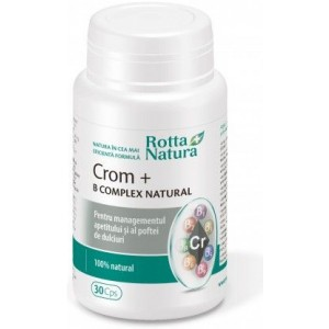 Crom + B Complex Natural 30cps Rotta Natura