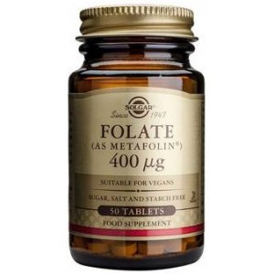 Folate AS Metafolin 400mcg 50tbl SOLGAR