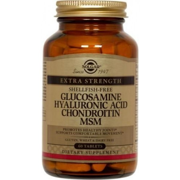 Glucosamine Hyaluronic Acid Chondroitin MSM 60tbl SOLGAR