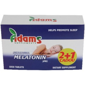 Melatonina 3mg 50cpr 2+1 Gratis Adams Vision