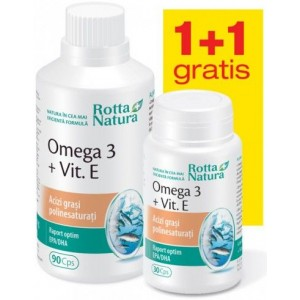 Pachet- Omega 3 100mg 90cps + 30cps (Gratuit) Rotta Natura