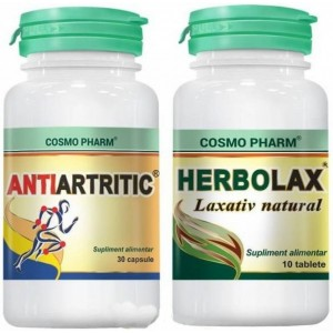 Promo Antiartritic Natural 30Cps+Herbolax 10Cps(Gratuit) Cosmopharm