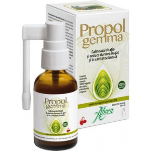 Propolgemma spray copii&adulti fara alcool 30ml Aboca