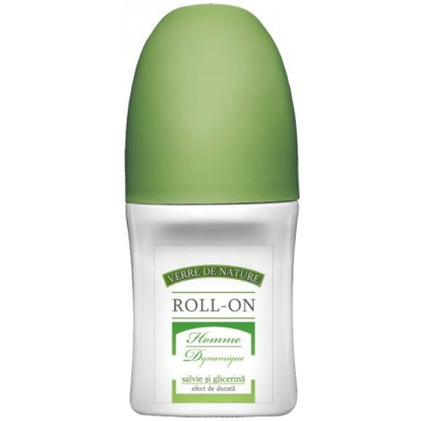 Roll-On Homme Dynamique cu Salvie si Glicerina 50ml Manicos