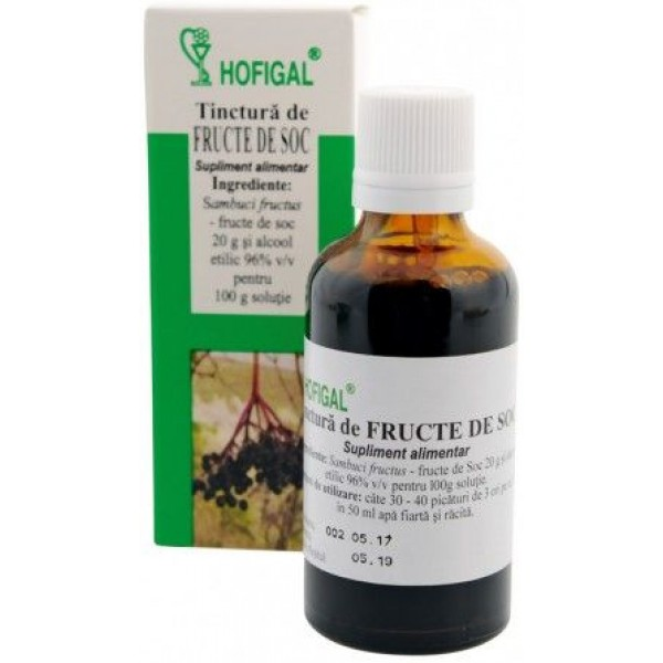 Tinctura din fructe de Soc 50Ml Hofigal
