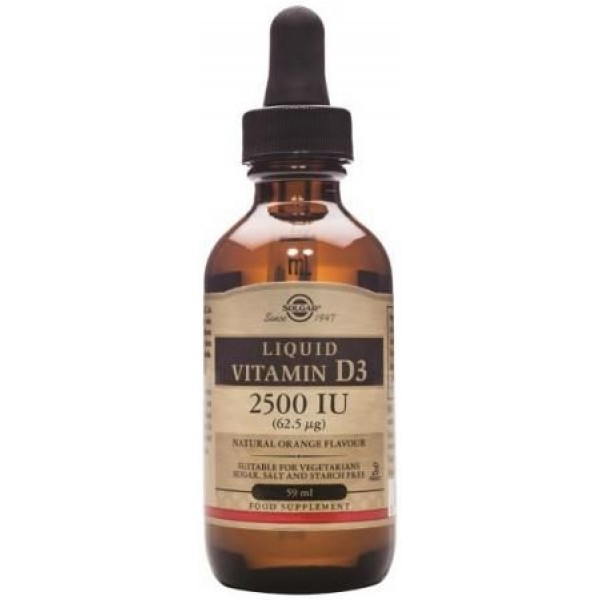 Vitamina D3 Lichida 2500iu 59ml SOLGAR