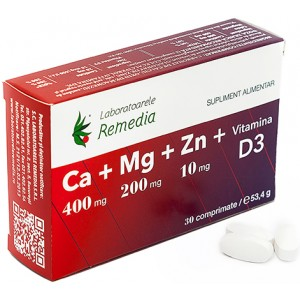 Ca+Mg+Zn +Vitamina D3 40cpr Remedia