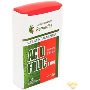 Acid folic 1mg 100cpr Remedia