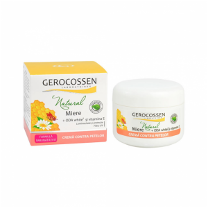 Crema contra petelor Natural Miere 100ml Gerocossen