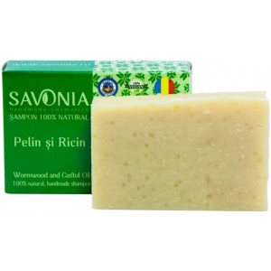 Sampon Solid Natural Pelin si Ricin 90gr Savonia