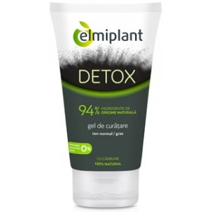 Detox Gel Curatare Ten Normal-Gras 150ml Elmiplant